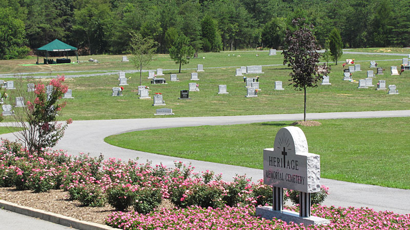 Heritage Memorial Cemetery - View From Road